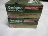2 Boxes 40 Rds Remington Premier A-Frame 300 Rem Ultra Mag Ammo
