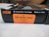 3 Boxes 60 Rds HSM Trophy Gold 300 WHBY Mag Ammo - 4 of 8