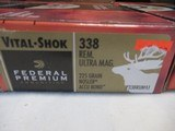 3 Boxes 60 Rds Federal Vital Shok 338 Rem Ultra Mag Ammo - 3 of 5