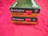 2 Boxes 40 Rds Remington 35 Whelen Factory Ammo