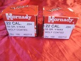2 Boxes 200 Hornady 22 Cal 55 Gr V-Max Moly Coated - 3 of 3