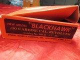 Ruger New Model Blackhawk .30 Carbine Cal with box - 3 of 17