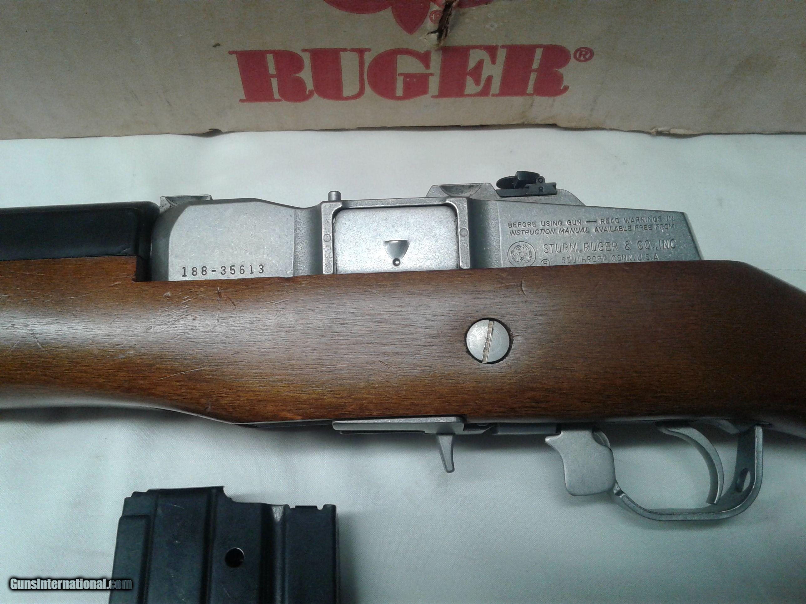 Ruger Mini-14 Ranch carbine stainless barrel wood stock with