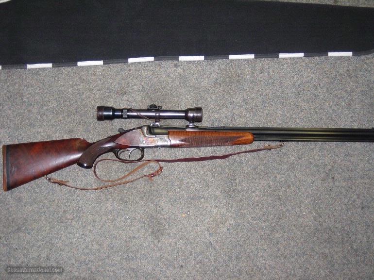 CASED EMIL ADAMS BERLIN COMBO GUN 6.5 UNDER 16 GA.- 1 of 15