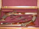 American Dueling Pistols, Saw Handle, by Richardson of Philadelphia