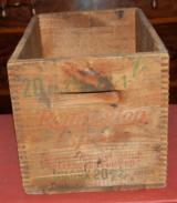 Antique Remington 20ga.Wooden Shotshell Box
