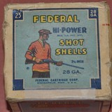 Full Box of Federal 28ga.Paper Shotshells - 1 of 6