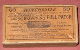 Full Box of Winchester 32 Auto Colt Unopened - 1 of 1
