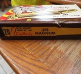 PARTIAL VINTAGE BOX 378 WEATHERBY AMMO 12 RNDS - 2 of 5