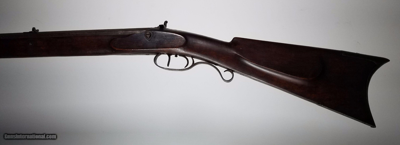 Circa 1830 J & S HAWKEN Full Stock Plains Rifle