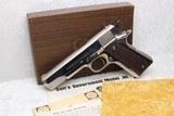 LNIB Nickel Pre-70 Series Colt Government .45