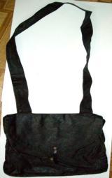Reenactors Reproduction Black Tarred Haversack with Unpainted Canvas Inner Bag - 1 of 1