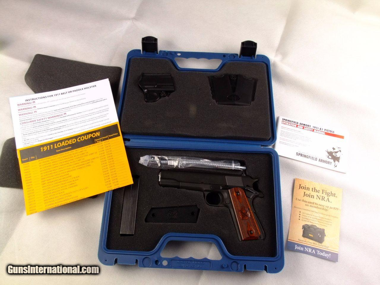 Unfired Springfield 1911 Parkerized  45 acp Mil Spec Package