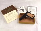 Rare Mint Unfired FI Garcia .380 Blue Steel Semi-Automatic Pistol with Box and Papers!