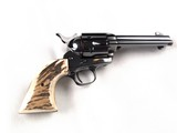 """Rare 4 3/4"""" Colt Single Action Army in Full Royal Blue with Factory Stag Grips Circa 1989"""