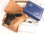 Mint Unfired Smith and Wesson Model 59 9mm Semi-Auto Pistol with Factory Box, Etc.!