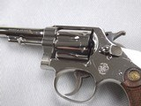 SMITH AND WESSON NICKEL PLATED 32 REGULATION POLICE REVOLVER! - 7 of 15