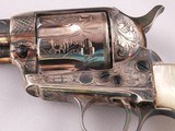 Beautiful Patton Hand Engraved Uberti .45LC Single Action Revolver Finished in Sterling Silver and Pearl Grips! - 2 of 14