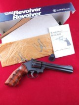 """Beautiful Smith and Wesson Model 17-6 Full Lug .22LR 6"""" Revolver with Factory Box - 1 of 14"""