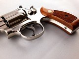 "Beautiful Smith and Wesson Model 19-5 .357 Magnum 2 1/2"" Mirrored Nickel Revolver - 7 of 13"