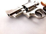 "Beautiful Smith and Wesson Model 19-5 .357 Magnum 2 1/2"" Mirrored Nickel Revolver - 9 of 13"