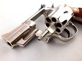 "Beautiful Smith and Wesson Model 19-5 .357 Magnum 2 1/2"" Mirrored Nickel Revolver - 10 of 13"