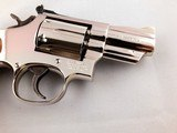 "Beautiful Smith and Wesson Model 19-5 .357 Magnum 2 1/2"" Mirrored Nickel Revolver - 2 of 13"