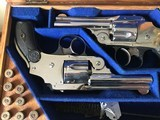 Smith & Wesson 38 Safety DA Hammerless Fine English Watson Brothers Retailed Cased Nickel Pair of Revolvers - 6 of 12
