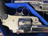 Smith & Wesson 38 Safety DA Hammerless Fine English Watson Brothers Retailed Cased Nickel Pair of Revolvers - 5 of 12