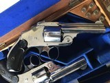 Smith & Wesson 38 Safety DA Hammerless Fine English Watson Brothers Retailed Cased Nickel Pair of Revolvers - 8 of 12