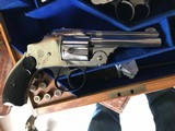 Smith & Wesson 38 Safety DA Hammerless Fine English Watson Brothers Retailed Cased Nickel Pair of Revolvers - 7 of 12