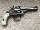 Smith & Wesson New York M.W. Robinson Engraved 32 Double Action Fourth Model Revolver Nickel - 6 of 10