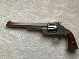 "Smith & Wesson Model 3 American 1st Variation 44 8"" Nickel 98% Factory Original"