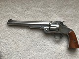 "Smith & Wesson Model 3 American 2nd Variation 44 8"" Nickel 98% Factory Original"