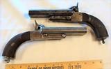 Pair (2) Civil War Double Barrel Pistols 58 cal