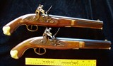 Pair (2) Flintlock Pistols 58 cal. Unfired?
