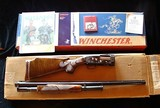 NIB Grade 5 Engraved Winchester Model 12 Trap with B Carved Wood includes Shipping Carton