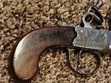 Antique English Flintlock Derringer by Henry Nock of London - 2 of 15