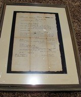 Lancaster County Antique Flintlock Full Stock Rifle with 1803 Documents - 14 of 15