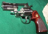 COLT = PYTHON = THREE (3) INCH BARREL = NICKEL = Never Turned = Never Fired = Custom Colt Grips