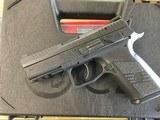 "CZ 91086 P-07 Compact 9mm Luger Single/Double 3.80"" 15+1 Black Polymer Grip/Frame Black Slide"