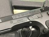 """CZ 91153 CZ 75 SP-01 Tactical 9mm Luger 4.60"""" 18+1 Black Black Steel Slide"""