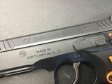 """CZ-USA 91249 Shadow 2 9mm Luger 4.89"""" 17+1 Black Black Steel Slide Orange Aluminum Grip - 6 of 8"""