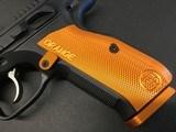 """CZ-USA 91249 Shadow 2 9mm Luger 4.89"""" 17+1 Black Black Steel Slide Orange Aluminum Grip - 5 of 8"""