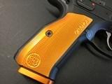"""CZ-USA 91249 Shadow 2 9mm Luger 4.89"""" 17+1 Black Black Steel Slide Orange Aluminum Grip - 3 of 8"""