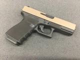 "Glock 19 Gen 3 Austria Handgun 9mm Luger 15rd Magazines 4.02"" Barrel FDE Slide Polymer Chainmail Stippled Frame"