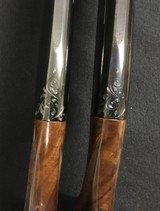 Remington 11-48 28ga Shotguns Consec SN Pair w/ Provenance Engraved by Bob Runge - 3 of 8