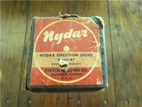 Vintage Nydar Shotgun Sight, Model 47 in factory original box. Made by: Swain Nelson Co., Glenview, Illinois, USA. - 5 of 11