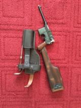 Pre WWI Mauser C 96 Mauser Broom Handle 7.63 Cal Pistol
