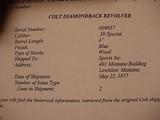 "Colt Diamondback .38 Special 4"" BBL W/ BOX - 20 of 20"